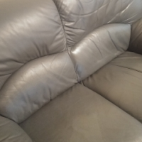 Leather couches with free furniture