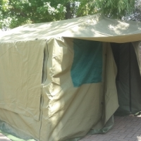 Canvas tent and extension