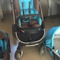 Chelino pram, car seat and basinet travel system