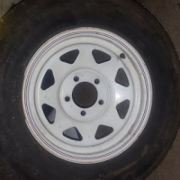 Set of mag wheels with tyres