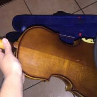 Violin with Blue Carry case.