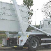 3Brand new clean white Mini Sips and 1double axel hydraulic trailer for sale