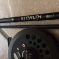 Stealth 9067  9' 6-7WT Fly Fishing rod and reel for sale