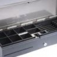Flip Top Cash Drawer EC-460 with Texture stainless steel top