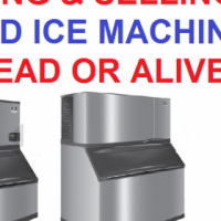 Sell your used ice machine for cash dead or alive