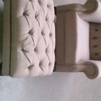 Stylish Wingback and Footstool Combo