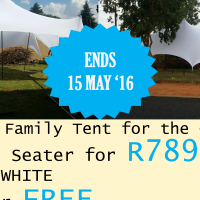 Best Funeral Stretch Tent Deal: Buy ONE get ONE FREE, Save more than R5000