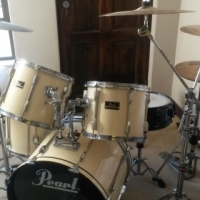 Pearl Export Drum Kit - lots of extras