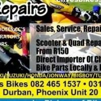 BIKE REPAIRS/QUADS/ATVS/SCOOTERS/SUPERBIKES/ECT....