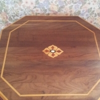 Small table with marquetry