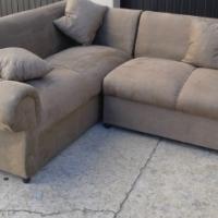 Brand new brown suede corner lounge suite L shape