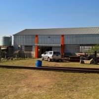 Steel workshop on farm for sale
