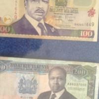 Old paper money: 1989 and 2001, Banki Kuu Ya Kenia