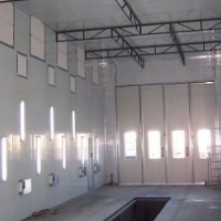FLUORESCENT LIGHTS .ZONE 2 HAZARD RATED .Spray areas .BUDGET OPEN FACE SPRAY BOOTHS