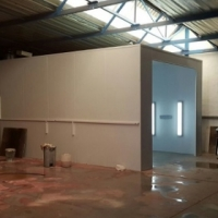 SPRINTER SPRAY BOOTH.9.2MX4MX3.3M .12 months to pay as cash with split deposit.MADE IN SA
