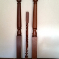 Solid Mahogany Balustrade (New)