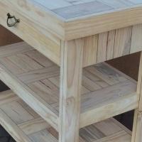 Kitchen Island Farmhouse series 1000 with 1 drawer mobile Raw