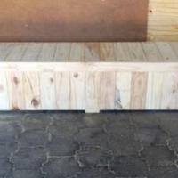 Patio bench with storage Farmhouse series 2500 with extra width - Raw