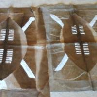 Nguni skins and leather furniture