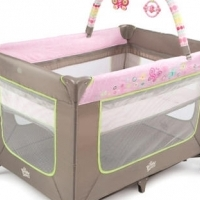 Bright Starts baby Camp Cot - Flutter Dot Playard - FREE delivery