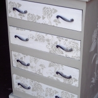 Flower Chest with 4 Drawers (640x520x1000)