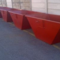 Five Red Mini Bins R20000 and No Trailer