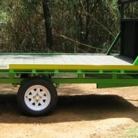 O.7. BRAND NEW FLAT DECK TRAILER 750kg