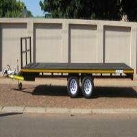 O.1. NEW 3200kg FLAT DECK TRAILER