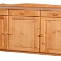 3 door and 3 draws sideboard in oak or Oregon finish