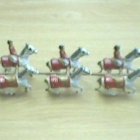 ANTIQUE ENGLISH HORSES WITH CART