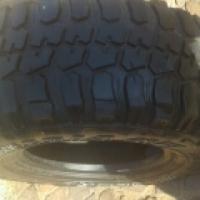 one mud terrain and one all terrain tire