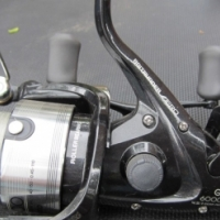 3 Rods + 4 reels + net + string to swop for Samsung cell phone
