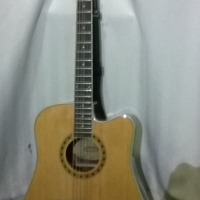 Acoustic Guitar With Pickup, Capo and other Accessories