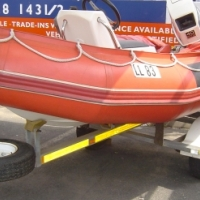 3m Semi Ridged Zodiac inflatable with 40Hp Johnson Motor