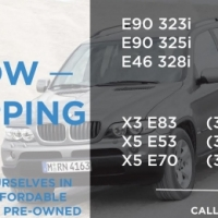 We are currently stripping the following BMW models for parts