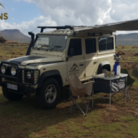 Rent a Fully Equipped Land Rover Defender / Safari Car Rental