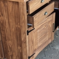 Buffet Farmhouse series 1600 with 4 drawers and 2 doors - Stained