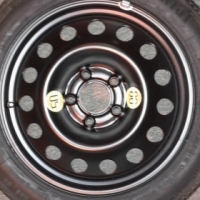 OEM BMW 17 inch space saver spare wheel to swap for home theater