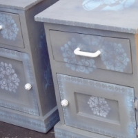 Set of Icon Pine Bedside Chests