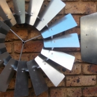 Wall Mounted Windmill Wheel and Tail