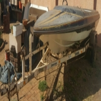 Speed Boat hull and Trailer FOR SALE