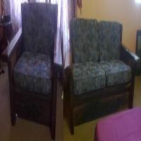 4 Piece wood (Sleeper wood) lounge set