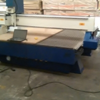 ps 2mx3mx6kw aircooled router with double ac servo motors,vacumm table,dust coll
