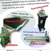 Picture framing equipment