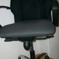 Grey/black Mid-back Typist Office Chairs...6units available