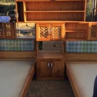 Pine bed set