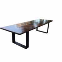 3m Saligna Wood table with Hoop legs