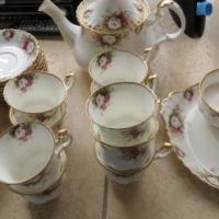 Royal Albert Celebration full set of 10 minus one cup