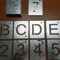 Galvanized steel stencils