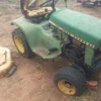John Deere 110 ride-on lawnmower